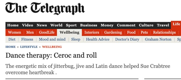 The Telegraph - Dance Therapy Ceroc and Roll