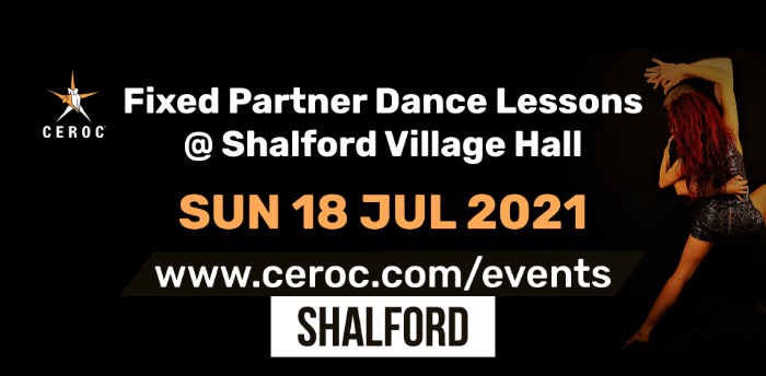 Ceroc Shalford Fixed Partner Dance Lessons Sunday 18 July 2021
