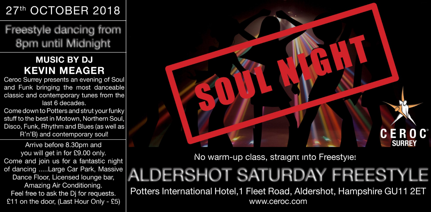 Aldershot Saturday Freestyle SOUL NIGHT