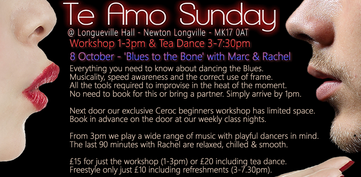 Blues Workshop (main hall) / Beginners Ceroc (annexe)