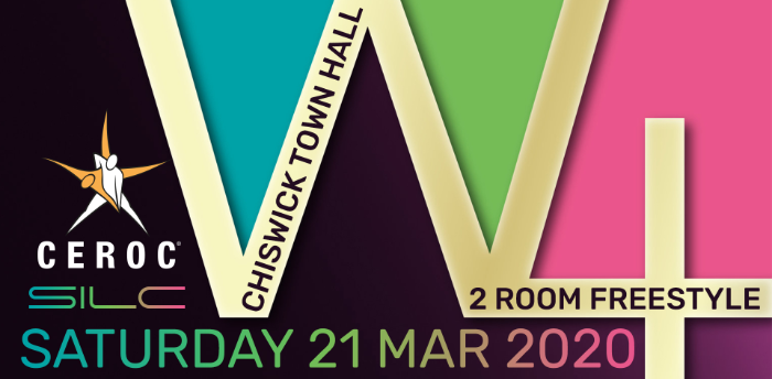 POSTPONED - Ceroc Chiswick W4 2 Room Freestyle Sat 21 Mar 2020