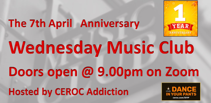 Anniversary Music Club, a special 1 year party night for the Wednesday Music Club