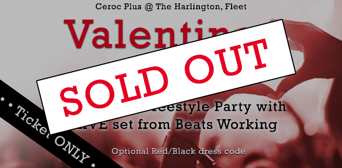 SOLD OUT - Valentines LIVE Two Room Freestyle Party