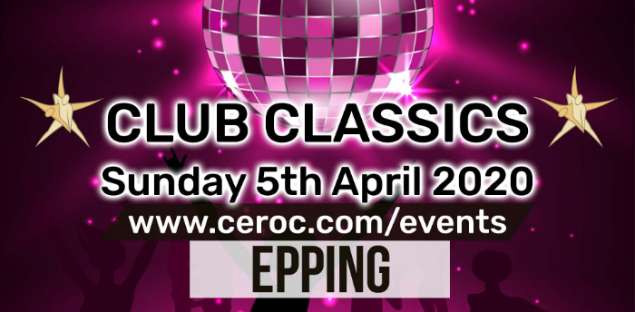 Club Classics Freestyle at Ceroc Epping Sun 05 Apr 2020