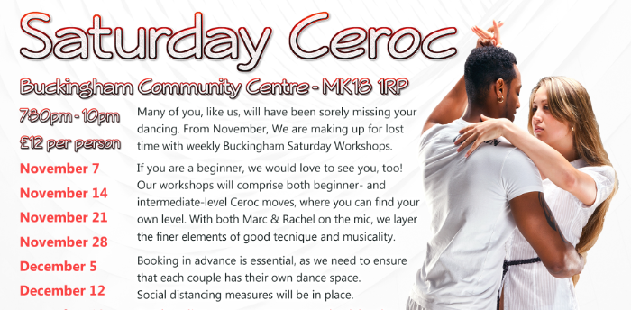 Buckingham Saturday Evening Ceroc Style Workshop