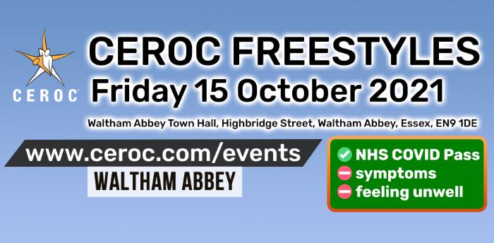 Ceroc Waltham Abbey Freestyle Friday 15 October 2021