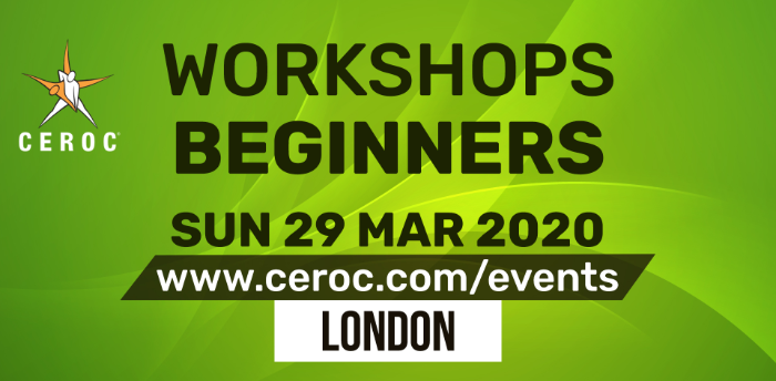 Ceroc Beginners One Learn to Dance Workshop Sun 29 Mar 2020