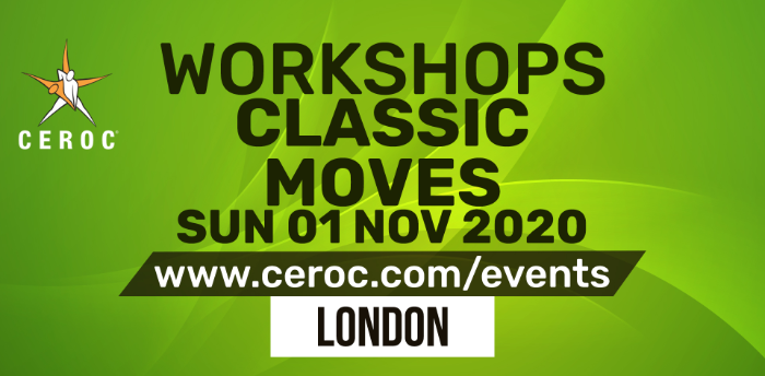 POSTPONED - Ceroc Classic Moves One Dance Workshop Sun 01 Nov 2020