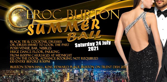 Summer Ball - Burton Town Hall - CANCELLED