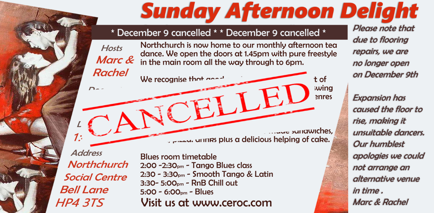 Cancelled- Afternoon delight