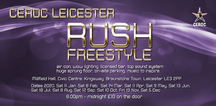 Cancelled - Leicester RUSH Event - Freestyle