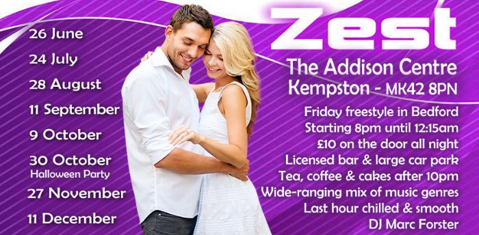 Postponed - Zest Freestyle In Bedford with Marc & Rachel