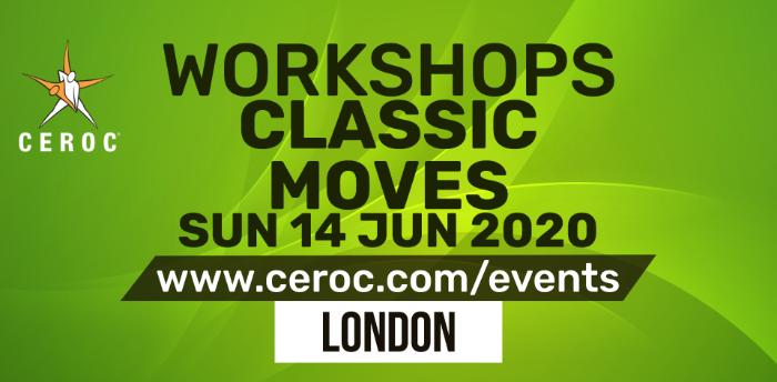 POSTPONED - Ceroc Classic Moves Two Dance Workshop Sun 14 Jun 2020