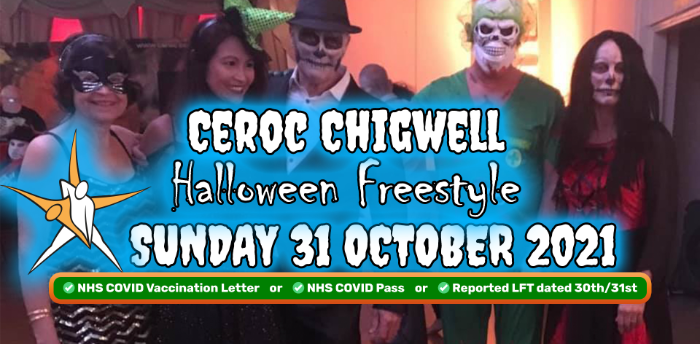 Ceroc Chigwell HALLOWEEN FREESTYLE Sunday 31 October 2021