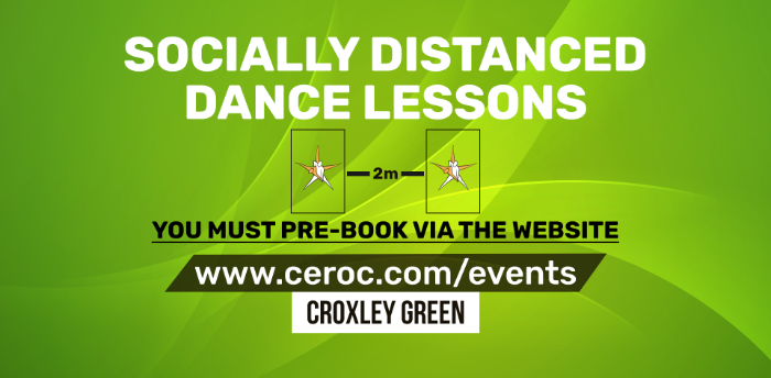 Ceroc Croxley Green TUESDAY 22 Sep 2020 - Socially Distanced Dance Lessons
