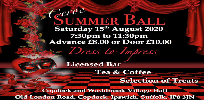 EVENT POSTPONED - Ceroc Suffolk Summer Ball