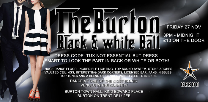 The Black & White Ball - Burton Town Hall