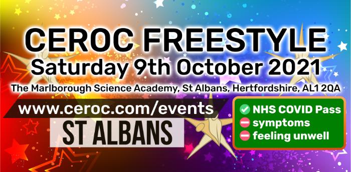 Ceroc St Albans Freestyle Saturday 09 October 2021
