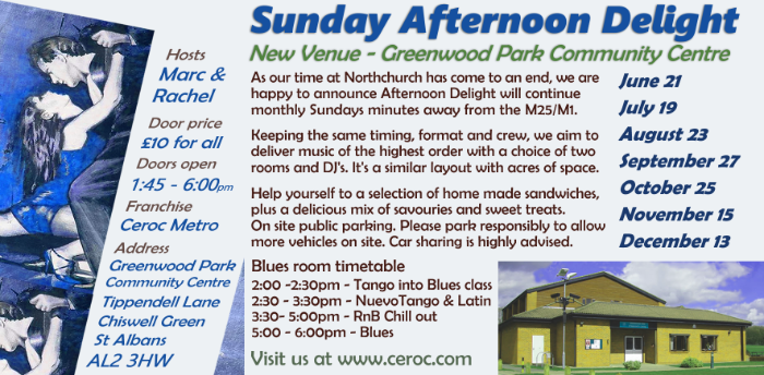 Postponed - Sunday Afternoon Delight