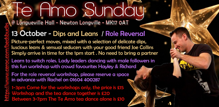 Te Amo Tea Dance with Afternoon Workshops