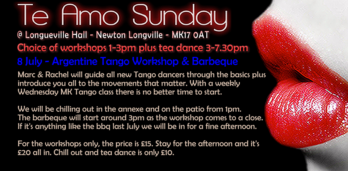 Te Amo Barbecue Tea Dance & Tango Workshop