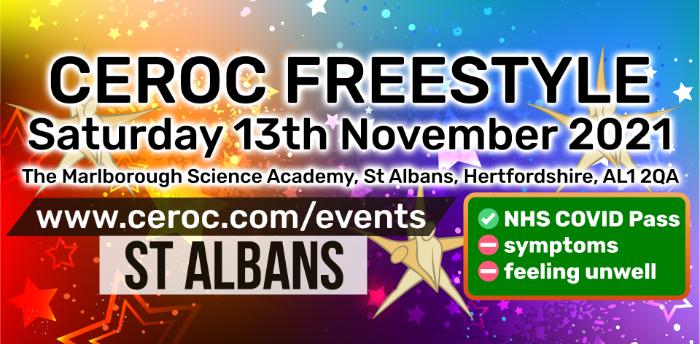 Ceroc St Albans Freestyle Saturday 13 November 2021