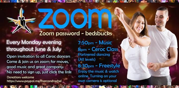 Buckingham Ceroc Zoom Online