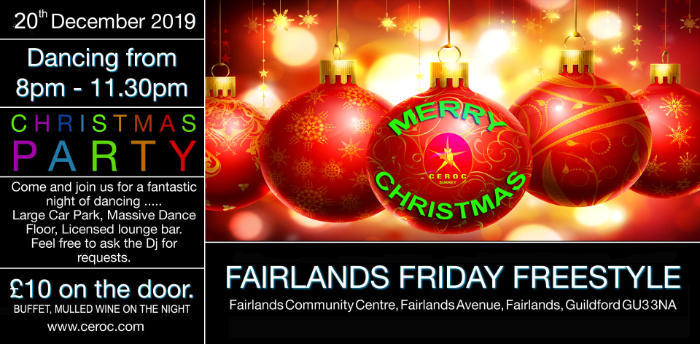 Fairlands Friday Freestyle - XMAS Party
