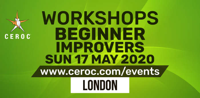POSTPONED - Ceroc Beginner Improvers Dance Workshop Sun 17 May 2020
