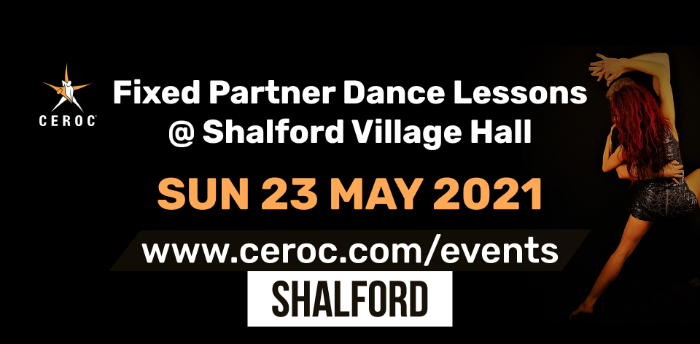 Ceroc Shalford Fixed Partner Dance Lessons Sunday 23 May 2021 - SOLD OUT