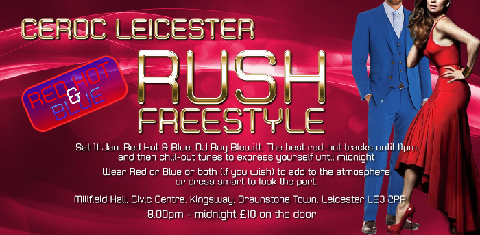 Leicester RUSH Event - Red Hot & Blue