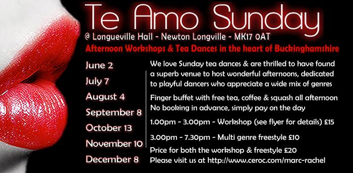 Te Amo Sunday Tea Dance & Workshop