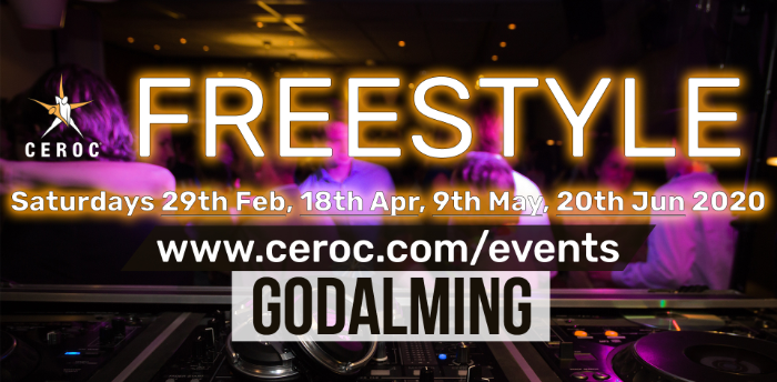 POSTPONED - Ceroc Godalming 2 Room Freestyle inc SILC Room 09 May 2020