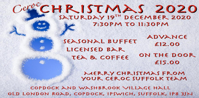 EVENT POSTPONED - Ceroc Suffolk Christmas Party 2020