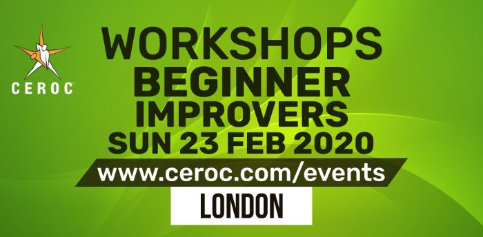 Ceroc Beginner Improvers Dance Workshop Sun 23 Feb 2020