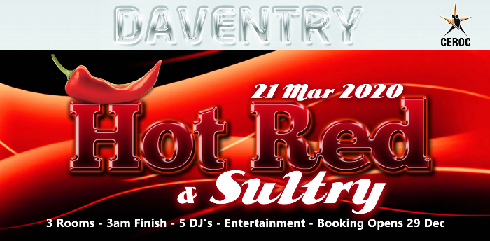 Suspended - DAVENTRY EVENT - Hot Red & Sultry