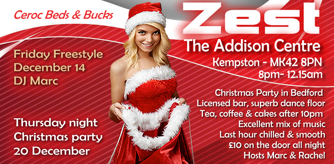Zest Christmas party in Bedford