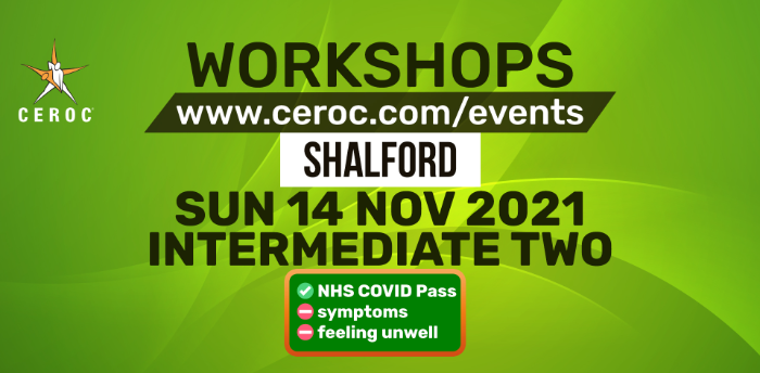 Intermediate Workshop at Ceroc Shalford Sun 14 Nov 2021