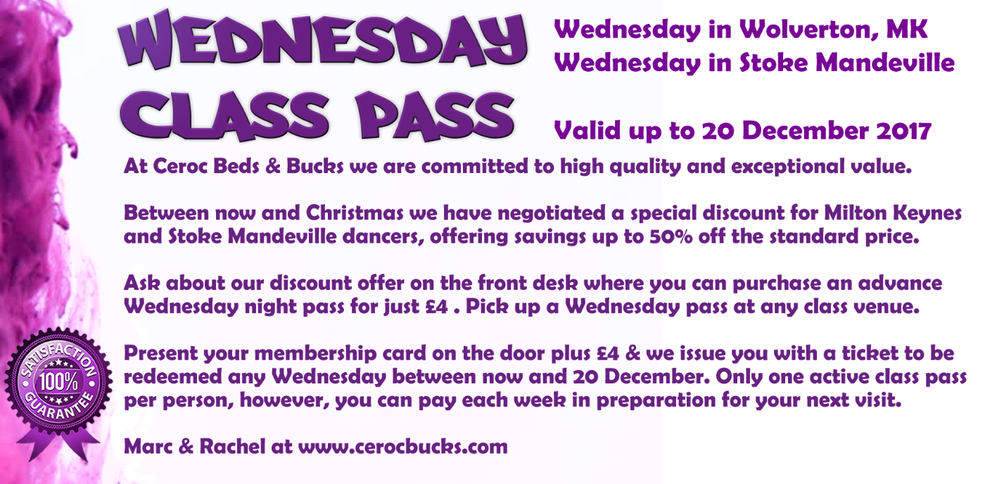 Wednesday Class pass