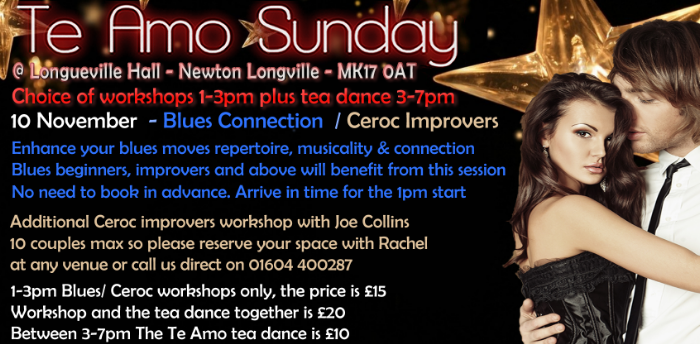 Ceroc Improvers Workshop at Te Amo - £15