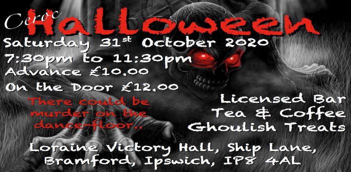 EVENT POSTPONED - Ceroc Suffolk Halloween