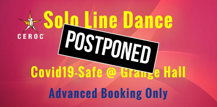 POSTPONED Solo Line Dances at Ceroc Grange Hall