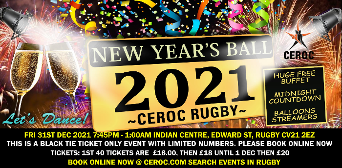 CEROC RUGBY NEW YEAR'S EVE BALL