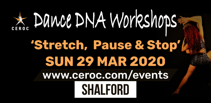 POSTPONED - Dance DNA Workshop - Stretch, Pause & Stop Sun 29 Mar 2020