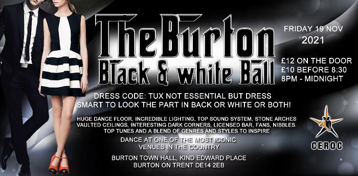 The Black & White Ball - Burton Town Hall