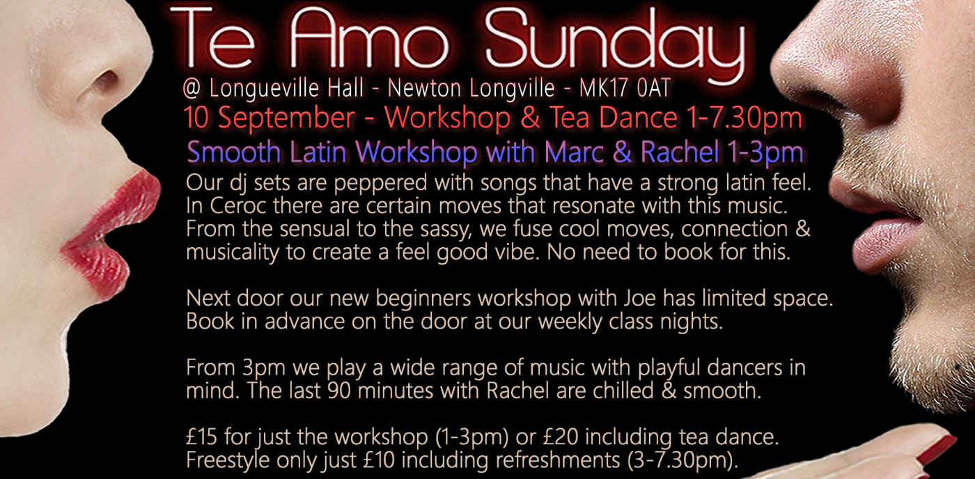 Smooth Latin Workshop / Beginners Ceroc