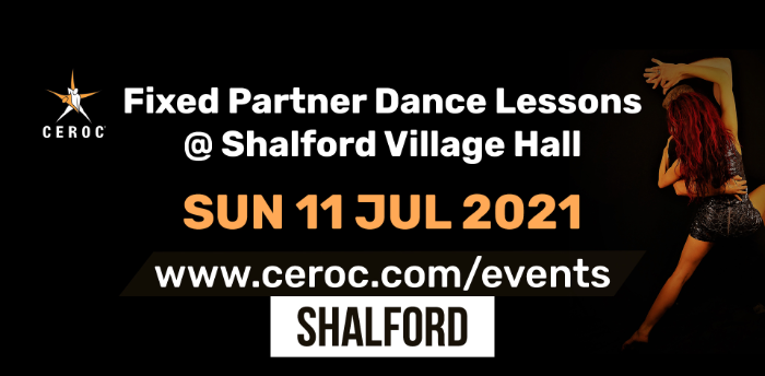Ceroc Shalford Fixed Partner Dance Lessons Sunday 11 July 2021