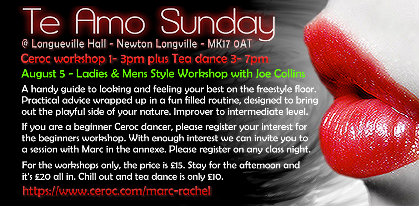 Te Amo Sunday Tea Dance & Workshop
